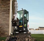 Bobcat E20 compact excavator (mini excavator) with canopy.