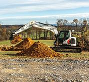 Bobcat 14-16T Size Class Excavator On Construction Jobsite