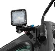 Close-up Of LED Light On The Exterior Of Bobcat E60 Compact Excavator