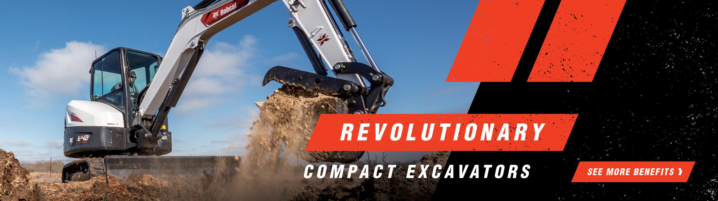 Graphic of Revolutionary R2-Series Compact Excavators