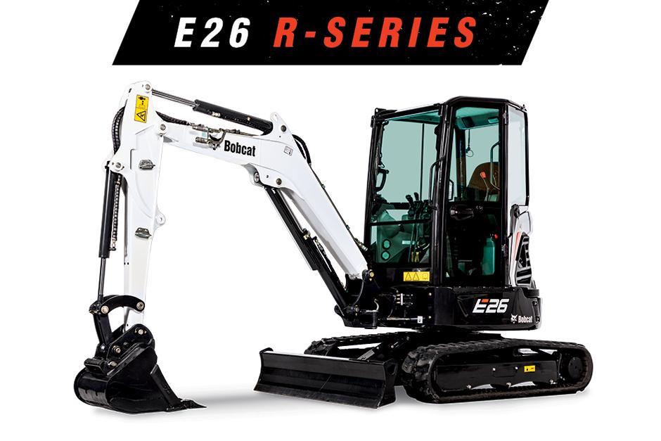 Studio Image Of Bobcat E26 Mini Excavator