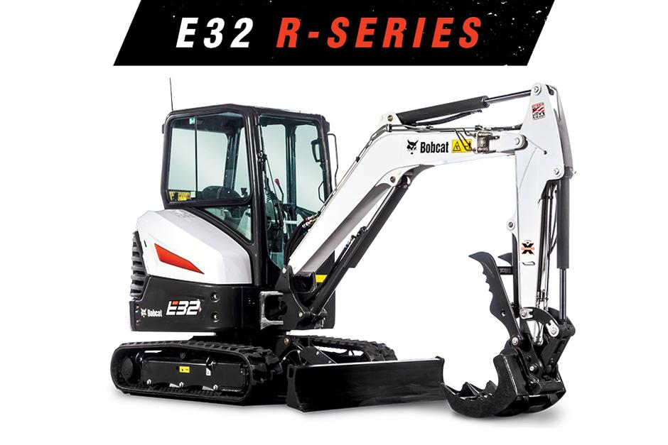 Studio Image Of Bobcat E32 Compact Excavator