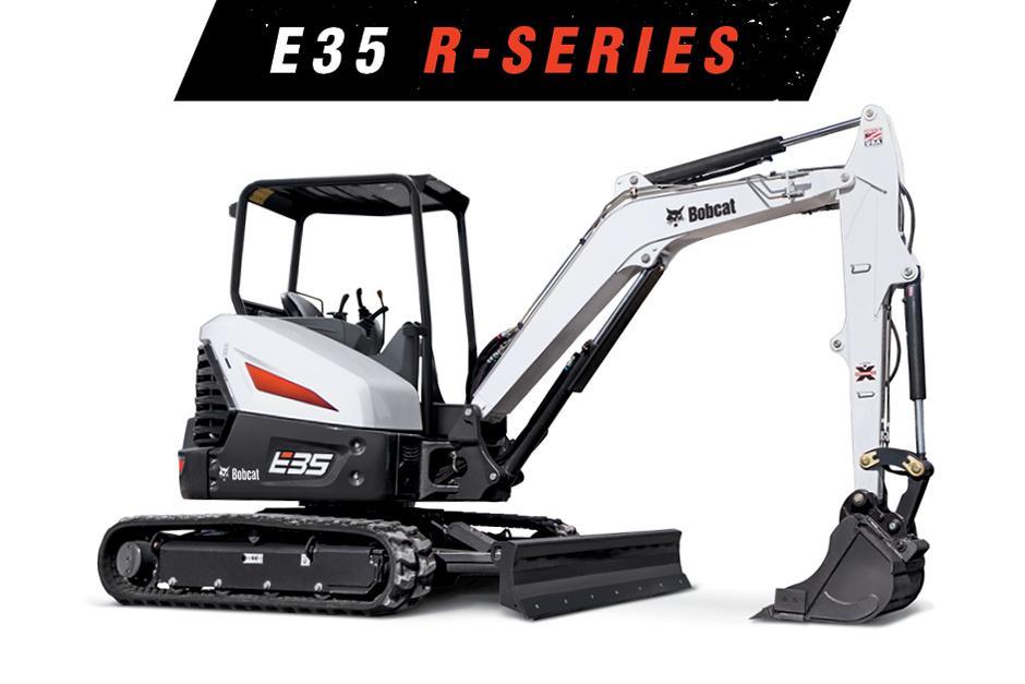 Studio Image Of A Bobcat E35 Mini Excavator