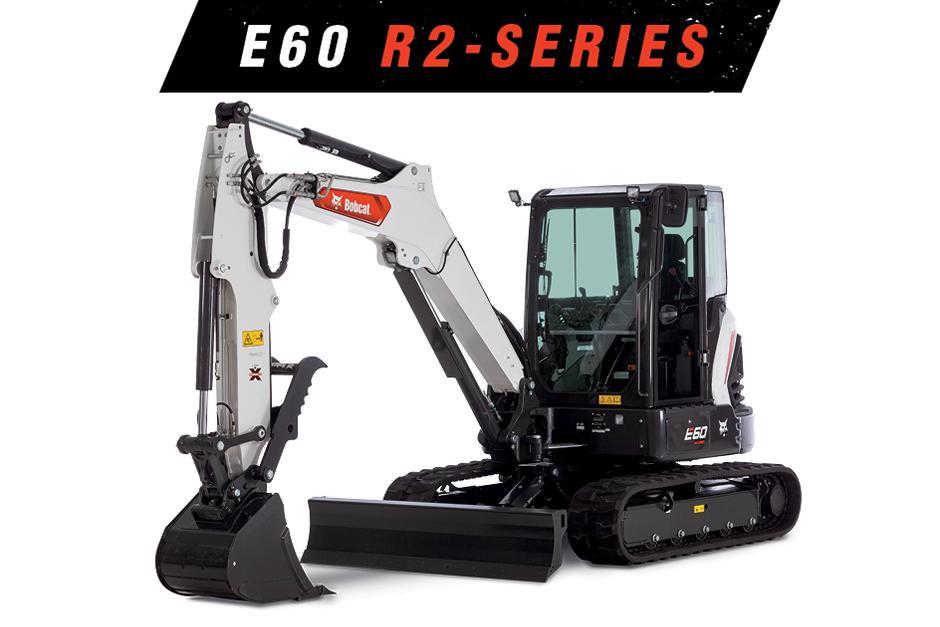 Studio Image Of A Bobcat E60 Compact Excavator