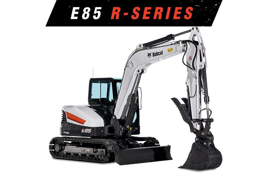 Studio Image Of A Bobcat E85 Excavator