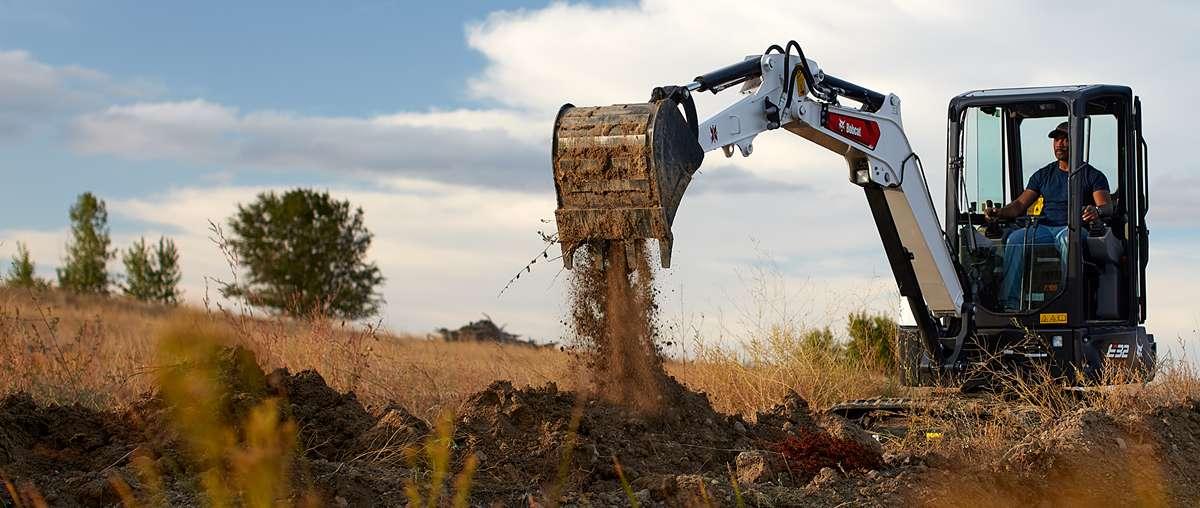 Bobcat R-Series E32 compact (mini) excavator