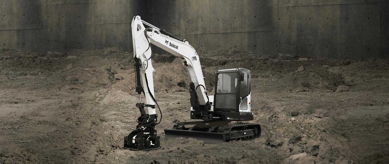 Bobcat E85 compact excavator.