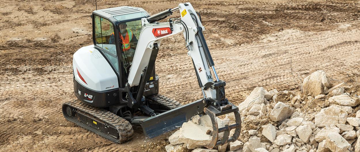 Bobcat R2-Series E42 Compact Excavator Digging