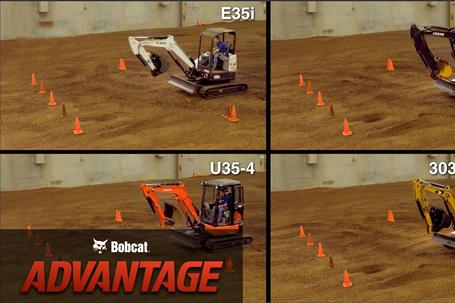 Backfill speed comparison overview video for Bobcat compact (mini) excavators