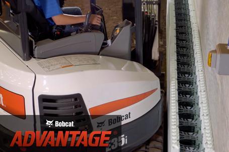 Bobcat compact (mini) excavator working in tight areas comparison video.