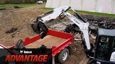 Bobcat compact (mini) excavators extendable arm comparison overview video.