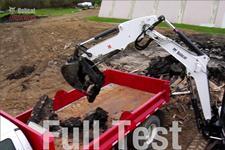 Bobcat compact (mini) excavators extendable arm comparison test video.