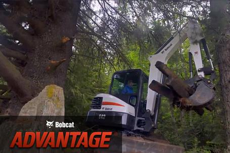 Stronger slewing overview video for Bobcat compact (mini) excavators.