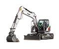 Bobcat E145 R-Series compact excavator.