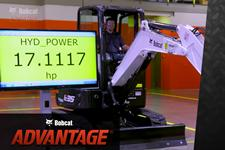 Hydraulic horsepower video overview for compact (mini) excavators.
