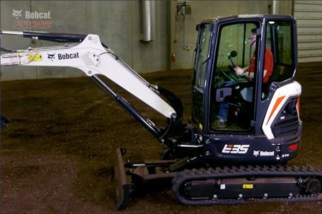 Cab sound comparison video for Bobcat compact (mini) excavators.