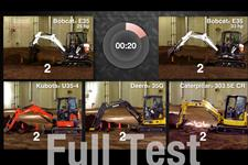 Digging speed test video for compact (mini) excavators.