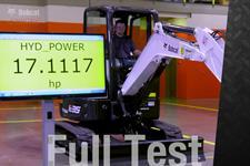 Hydraulic horsepower for compact (mini) excavators comparison video.