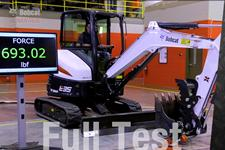 Stronger slewing test video for Bobcat compact (mini) excavators.
