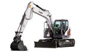 Cut Out Image Of Bobcat E145 Large Excavator With Bucket Attachment