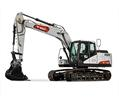 Bobcat E165 Large Excavator With Bucket Attachment