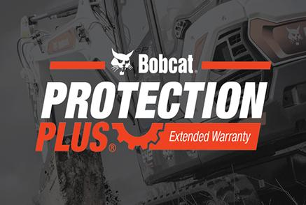 Protection Plus Extended Warranty Logo On Bobcat Compact Excavator