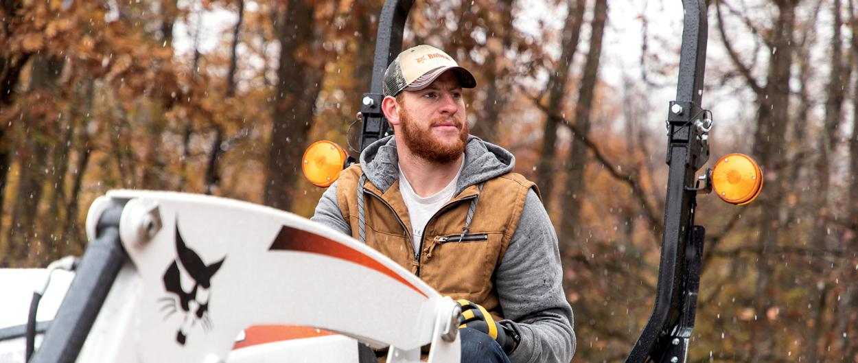 Carson Wentz Admires His CT2035 Bobcat Compact Tractor On His Acreage