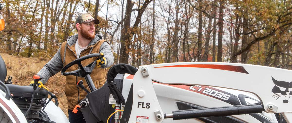 Carson Wentz Uses His Bobcat Compact Tractor To Maintain His Acreage