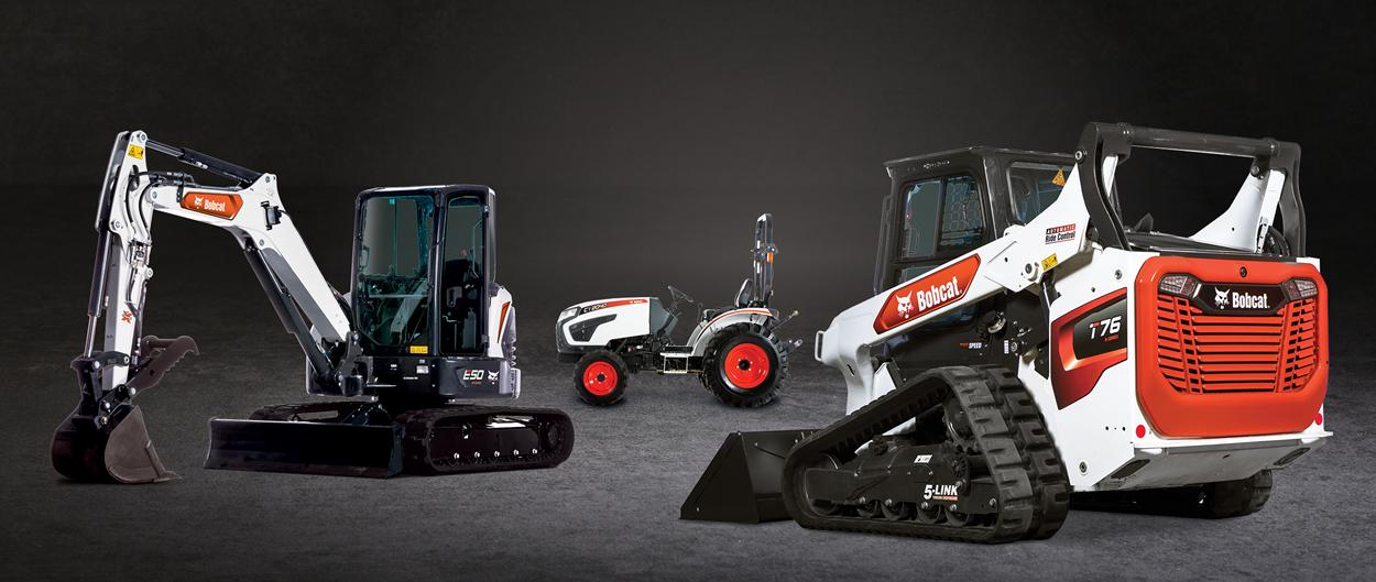 Bobcat Compact Equipment Lineup Featuring Mini Excavator, Compact Track Loader and Compact Tractor