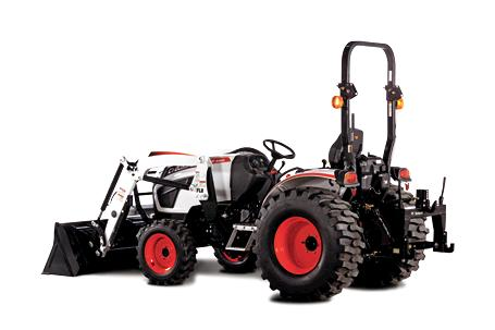 Bobcat compact tractor with 3-point quick hitch.