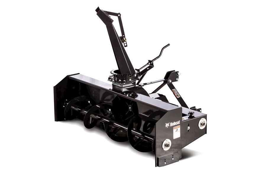 Bobcat 3-point snowblower tractor implement.