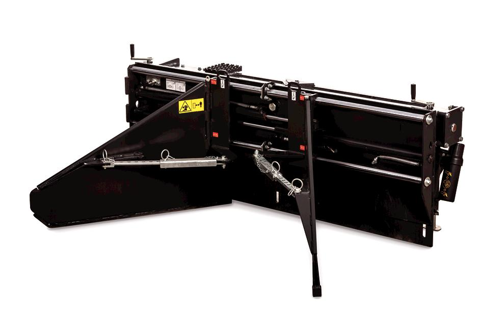 Bobcat Soil and Asphaly Spreader Attachment Studio Shot On White Background