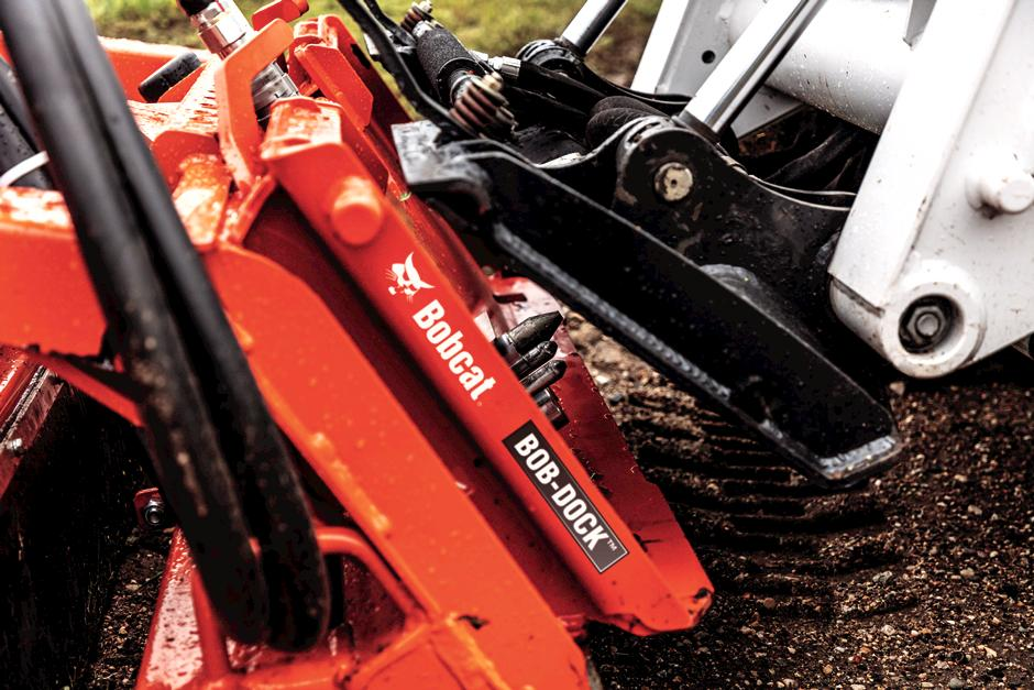 Bob-Dock Attachment Mounting System On Bobcat Loader