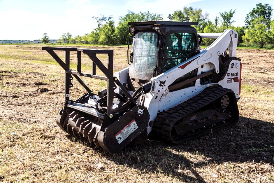Bobcat T770 Compact Loader Equipped With Forestry Applications Kit To Protect Key Areas Of The Machine