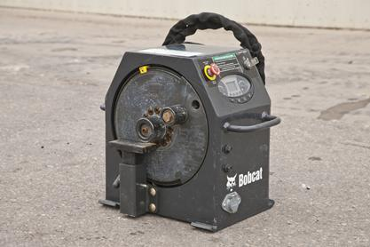 Rebar bender attachment from Bobcat Company.