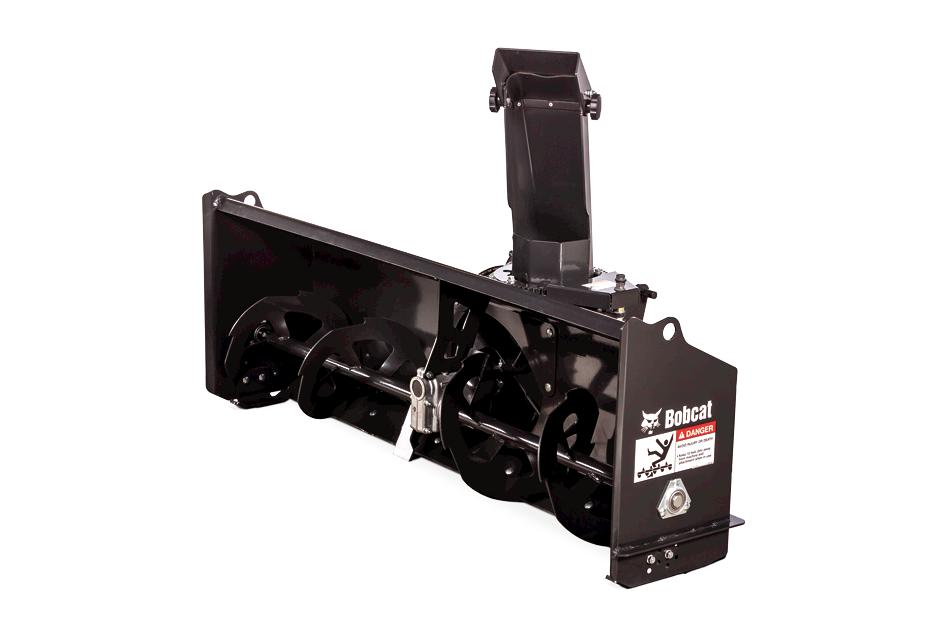 Front Mount Snowblower Attachment On White Background