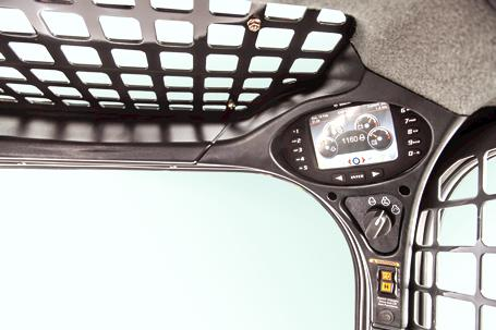 Deluxe instrumentation panel on Bobcat loaders.