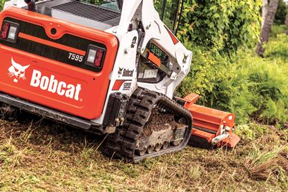 Bobcat T595 compact track loader.
