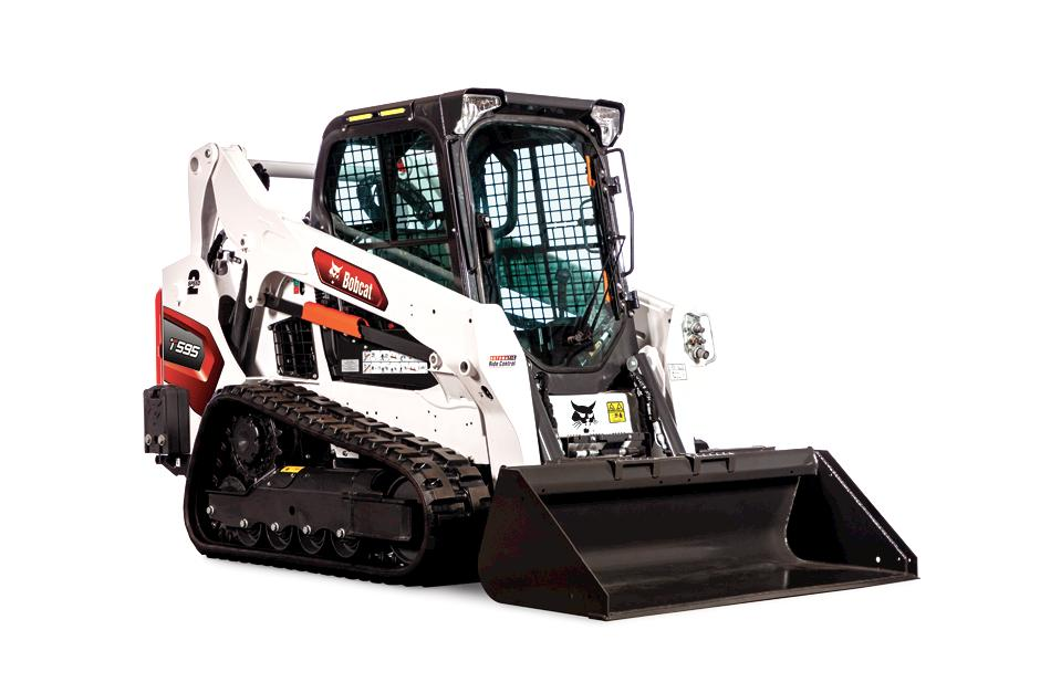 Studio Image Of Bobcat T595 Compact Track Loader With Bucket Attachment