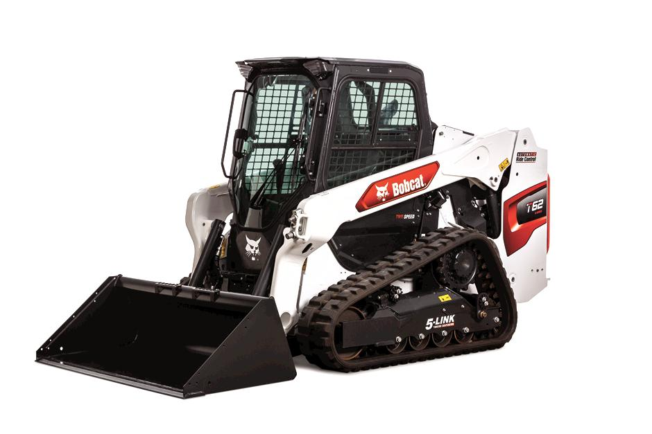 Studio Image Of Bobcat T62 Compact Track Loader With Bucket Attachment