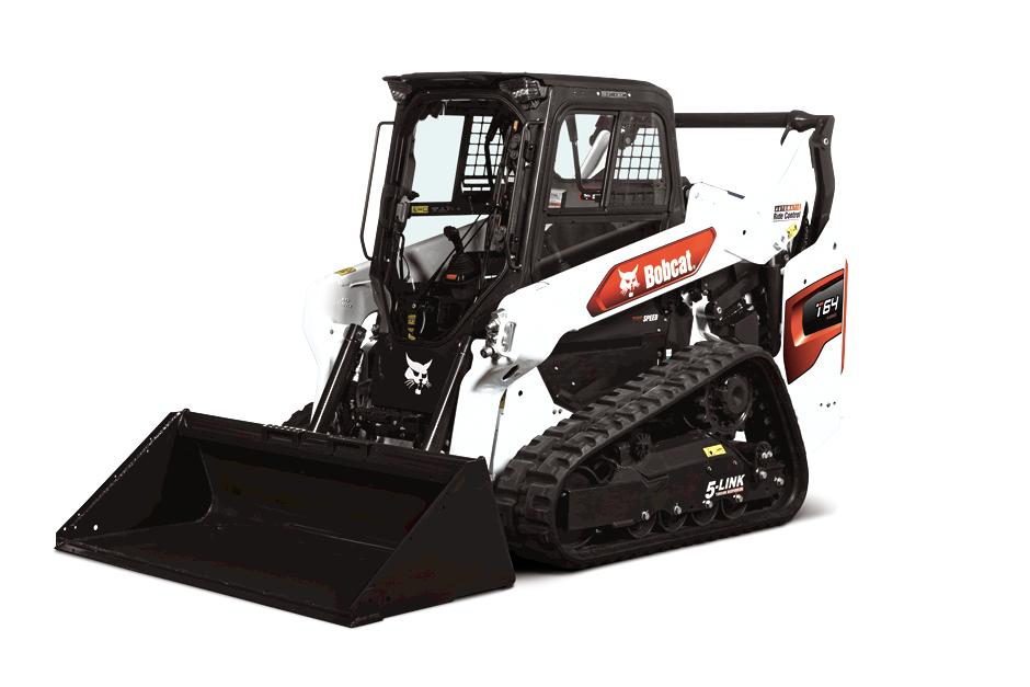 Studio Image Of Bobcat T64 Compact Track Loader With Bucket Attachment