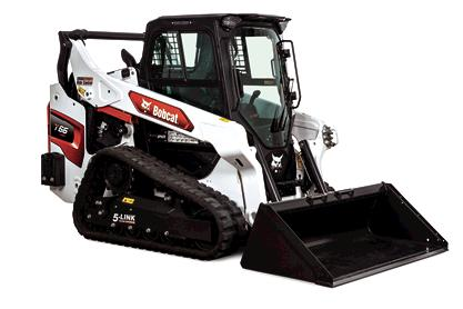 Studio Image Of Bobcat T66 Track Loader With Bucket Attachment