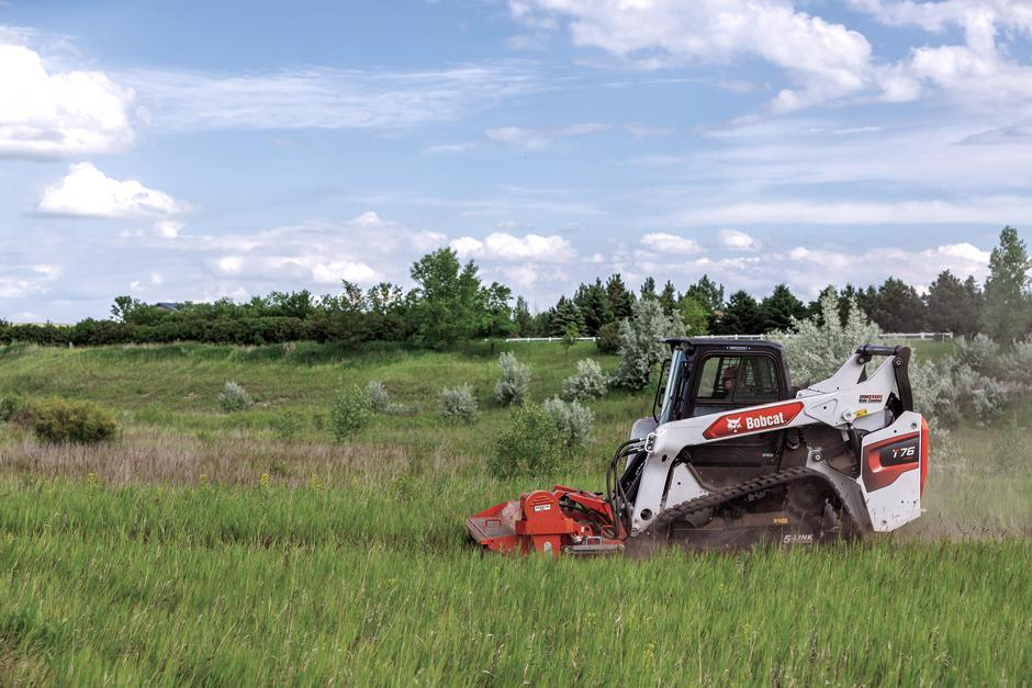 Protected Hose On R-Series Compact Track Loader