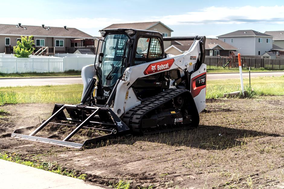 5-Link Torsion Suspension Undercarriage Show On R-Series Compact Track Loader