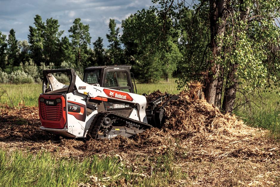 Bobcat Compact Track Loader with grapple attachment