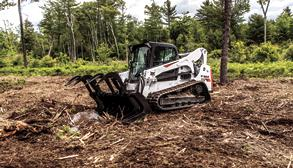Bobcat T770 compact track loader with grapple.