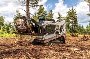 Bobcat compact track loader T770 with grapple.