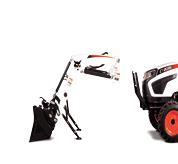 Bobcat compact tractor front end loader.