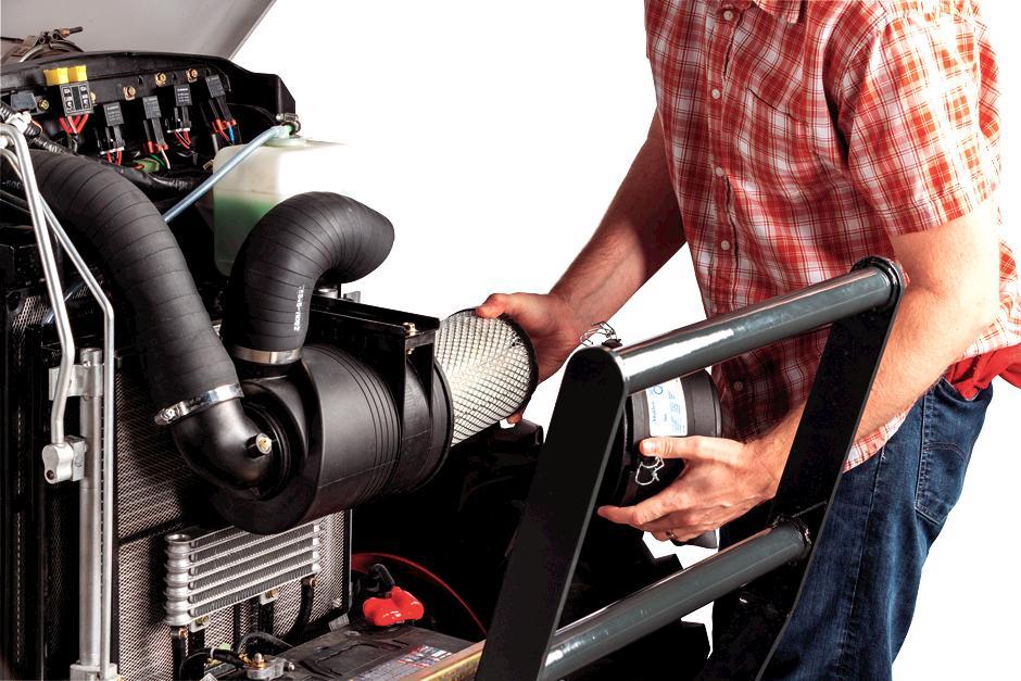 Bobcat Owner Checks Bobcat Compact Tractor Filters