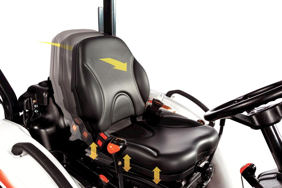 Comfortable Suspension Seats In Bobcat Compact Tractors